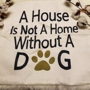 Calling all dog lovers!!  Dog throw pillow cover
